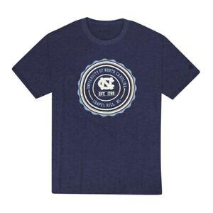UNC Tar Heels Champion NCAA Seal Stamp Men's Navy Blue T-Shirt