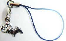 Antique Silver STAFFORDSHIRE BULLL TERRIER Phone Charm Gift Bag iPhone SAMSUNG