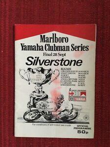 Yamaha Clubman Series Final, 27-28 September 1980, Silverstone Programme