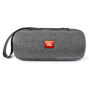 JBL Flip 1 2 3 Carrying Travel Case for Portable Bluetooth Speaker Gray Fabric