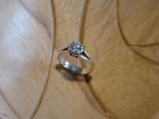 Vintage 925 Solid Sterling Silver Ring With Nice Stone 5 grams (S)
