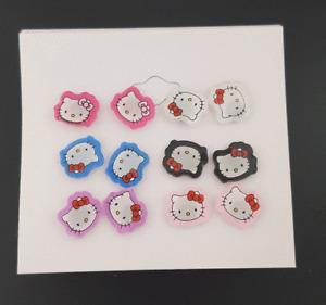 1 Paar Hello Kitty Ohrstecker Mädchen Ohrringe Katze Cat Earrings Freie Farbwahl