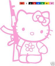 Hello Kitty AK-47 sticker Guns vinyl decal