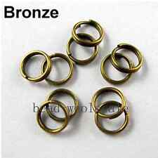 Wholesale 200-450Pc Silver/Golden/Copper/Black Metal Split Rings 4/5/6/8/10/12mm
