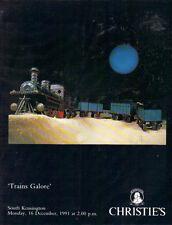 CHRISTIE'S Model Railway Train Bassett Hornby Dublo Lionel Marklin Catalog 1991