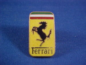 1947 and up FERRARI hat/jacket pin small collectible--new old vendor stock