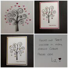 6 Memory Box Swirly Trees With 60 Hearts