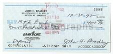 John Bradley - WWII Iwo Jima Flag-Raiser - Autographed Canceled Check