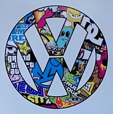 VW logo car van window sticker vinyl sticker Volkswagen Drift Stickerbomb Decals