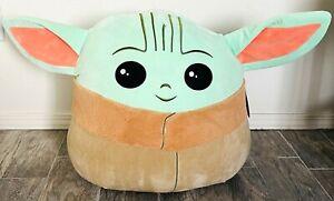 """Star Wars The Mandalorian The Child Baby YODA 20"""" Squishmallow Plush Baby Jumbo"""