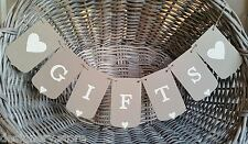 GIFTS wedding/engagement banner- Rustic bunting flags/garland Wishing well sign
