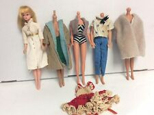 Vintage 1960s Barbie clone Doll with  extra Barbie Clothing  lot # 2