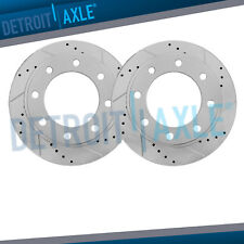 Rear DRILLED & SLOTTED Brake Rotors for 1999-2003 2004 Excursion F-250 F-350 SRW