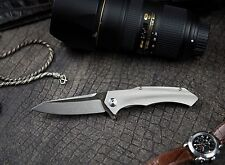 Vespa Predator Large Tactical Flipper Folding Knife S35VN Steel Titanium Handle