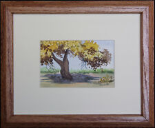 Autumn Gold Cottonwood, by NM Artist Vivian Ashcraft, Original Watercolor