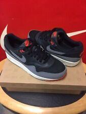 Nike Air Max 1 Essential Negro Gris frío equipo naranja 2012 Raro Zapatillas De Liberación