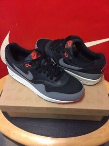 nike air max 1 essential black cool grey team orange 2012 rare release sneakers