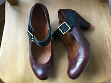 CHIE MIHARA Fabulous Mary Jane Shoes Brown with Contrasting Strap Size 40