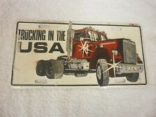 AMERICAN TRUKING IN THE USA GRAPHIC SOUVENIR BOOSTER NUMBER PLATE