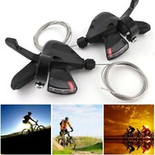 2X Shimano MTB Bike Brake Levers 3x8 Speed Set Brake Shifter SL-M310 GEAR Black
