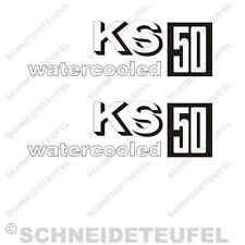 ZÜNDAPP KS 50 WATERCOOLED AUFKLEBER SET NEU - 30534