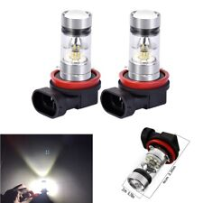 2x 100W H11/H8 2323 LED Bulbs Fog Lights DRL Extremely Bright 6000K Xenon White
