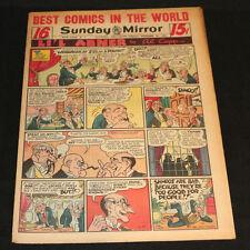 1951 Sunday Mirror Weekly Comic Section November 25th (Vf) Superman Schmoo