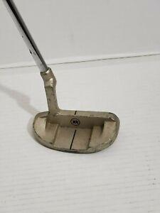 Ram Golf Mallet Putter Off Set Steel Shaft  Right Handed Original Grip Vintage
