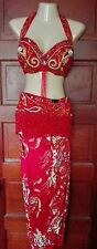 Professional Belly Dance Costume, vintage Pharaonics of Egypt, red, beautiful!