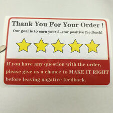 Ebay Thank You For Your Order Shipping Labels PVC Stickers 50pcs