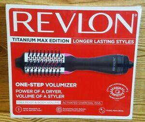 Revlon RVDR5282CT One-Step Hair Dryer Comb and Volumizer Titanium Max Edition -