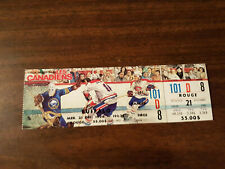 montreal canadiens vs buffalo sabres full ticket with stub montreal forum 1994