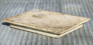 VINTAGE WOODEN TABLE TOP COFFEE END WHITE CHIPPY PAINT SHABBY FARM HOUSE GARDEN