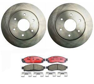 Front Disc Brake Rotors Pair For Nissan Titan Pathfinder Armada Infiniti QX56