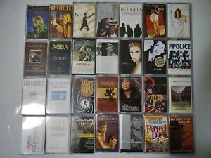 Job lot 100+ Cassette Tapes various artists Rock Pop etc