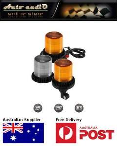 Britax BF300 Series 1100 Lumen LED Beacon BF300-00 Flange Base Amber Lens