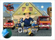 Fireman Sam Personalised Place mat -Easy Wipe Clean EVA Sponge Backed