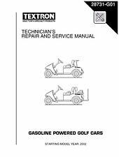 EZ Go E-Z-GO 2002-2007 Gas Freedom Fleet Shuttle Golf Car Service Manual