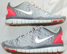 Womens Gray Satin NIKE FREE TR FIT Athletic Sneakers Shoes Sz 7.5
