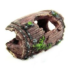 New listing Aquarium Fish Tank Landscaping Vintage Wine Barrel Cave Resin Craft Caves #Hf0
