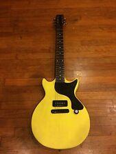 TV Yellow Double Cut Junior P90 Earl Slick SL59