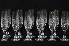 Service Cristal Etzel, 11 Flûtes, signés / Set of 11 champagne glass cristal