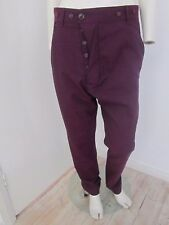 New Vivienne Westwood Purple Wool Alcoholic Trousers - Size 46 Italy