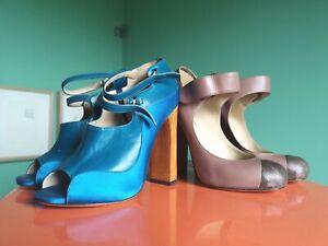 Two pairs of Catwalk Edition Nicholas Kirkwood Roksanda Heels Sandals Shoes 38.5