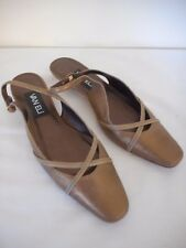VANELi VAN ELi 7 S narrow taupe Womens 1.5 inch heel buckle sling back Shoes