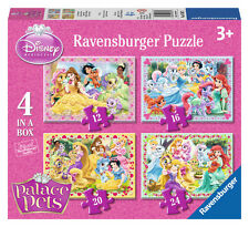 CHILDRENS DISNEY PRINCESS PALACE PETS 4 IN A BOX JIGSAW PUZZLES RAVENSBURGER