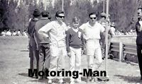 JIM CLARK TREVOR TAYLOR MEXICAN GP 1962 FORMULA 1 PHOTOGRAPH PADDOCK FOTO RARE