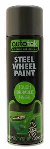 Steel Wheel Paint Autotek 500ml Spray Can Aerosol High Coverage Great Quality