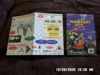 Mario Kart (Nintendo 64) Instruction Manual Booklet & Chart Only... NO GAME