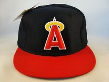 California Angels MLB Vintage Size 6 3/4 Fitted Hat Defect Missing Top Button